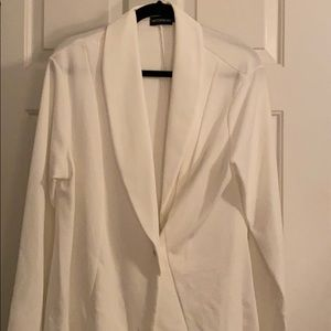 Plus-Size White Blazer